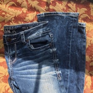 Buckle Black Bootcut Jeans 26x36